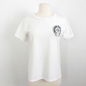 Chrome Hearts Cartoon Superhero White Shirt Size M